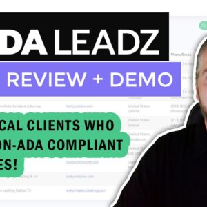 ADA Leadz Review & Demo: ADA Lead Generation & Audit With ADA Leadz