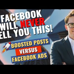 Facebook Ads vs Boosted Posts | DON'T MAKE THIS MISTAKE!