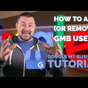 How To Add & Remove Users on Google My Business | Local SEO Tutorial
